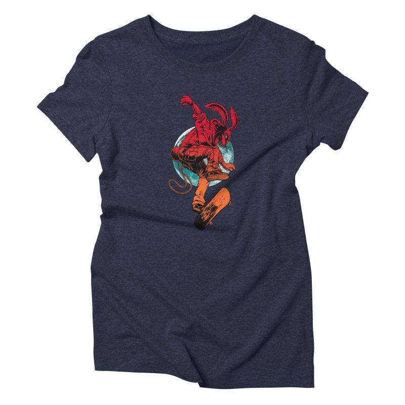 Skate Punk Wabbit Women's T-Shirt by Hamptonia, Justin Hampton's Artist Shop