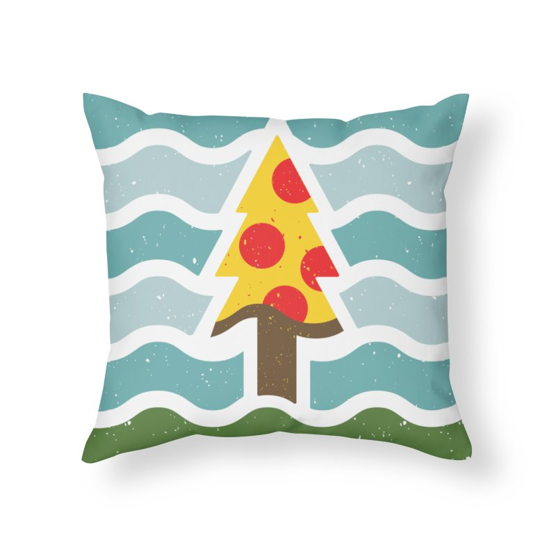 Go Eat Outside - Pizza Home Throw Pillow by justinryanorg's Artist Shop