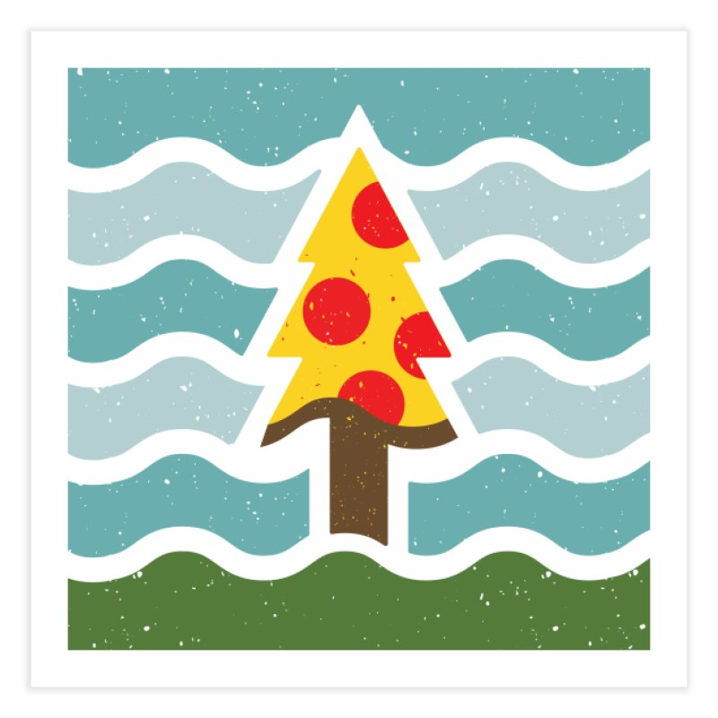 Go Eat Outside - Pizza Home Fine Art Print by justinryanorg's Artist Shop
