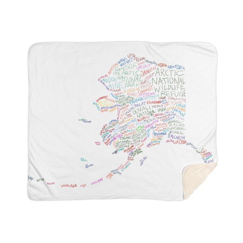 Alaska: Find Your Place Home Sherpa Blanket Blanket by Justin Tapp's Artist Shop