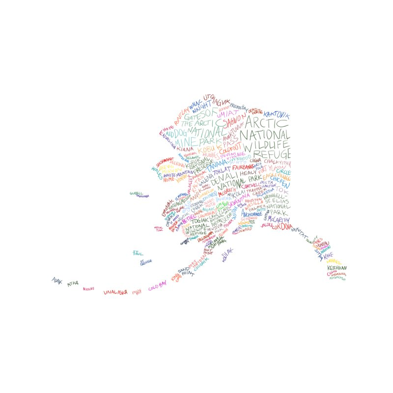 Alaska: Find Your Place Accessories Beach Towel by Justin Tapp's Artist Shop