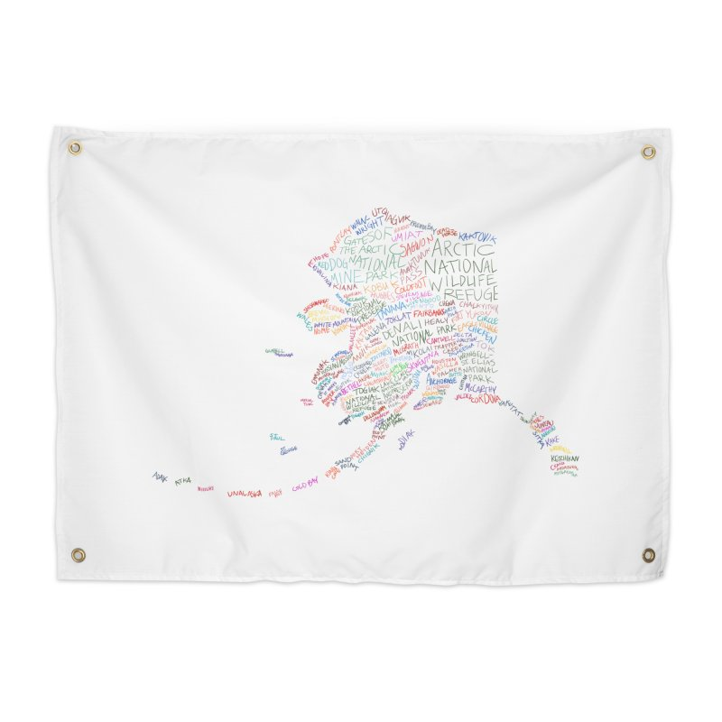 Alaska: Find Your Place Home Tapestry by Justin Tapp's Artist Shop