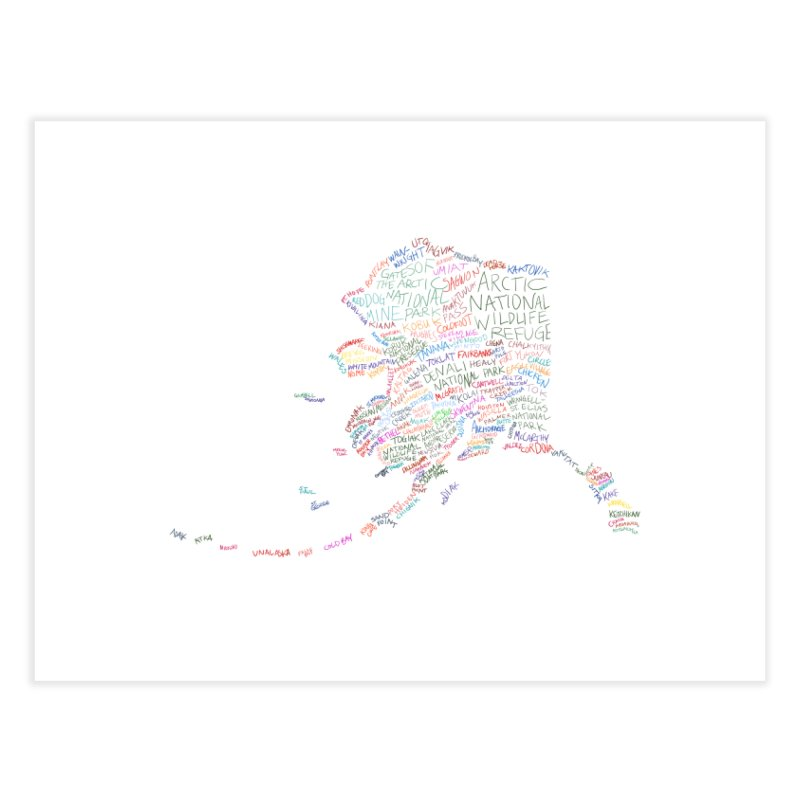 Alaska: Find Your Place Home Fine Art Print by Justin Tapp's Artist Shop