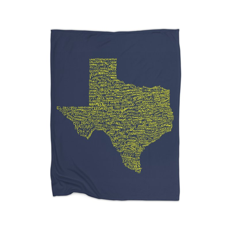 Where Y'all From? Home Fleece Blanket Blanket by Justin Tapp's Artist Shop