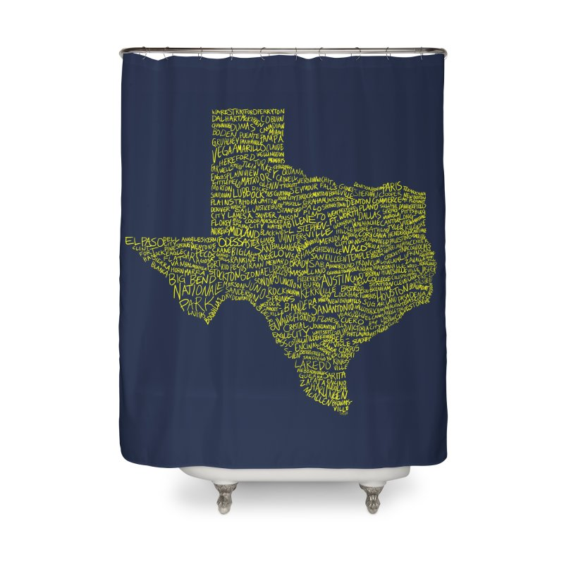 Where Y'all From? Home Shower Curtain by Justin Tapp's Artist Shop