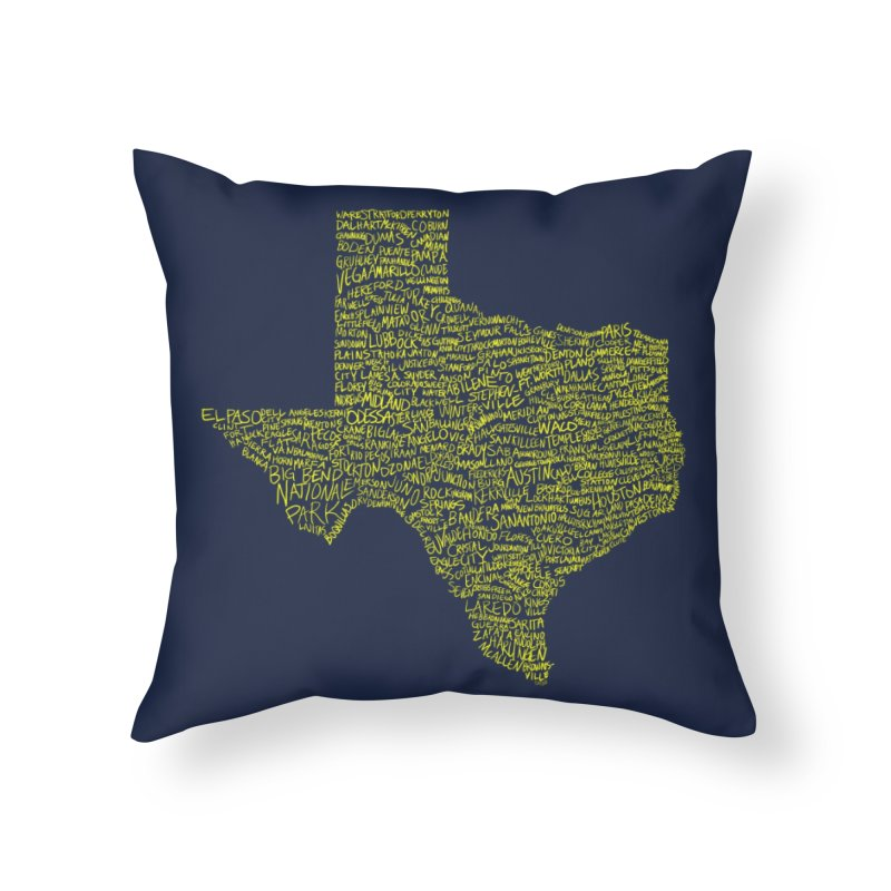 Where Y'all From? Home Throw Pillow by Justin Tapp's Artist Shop