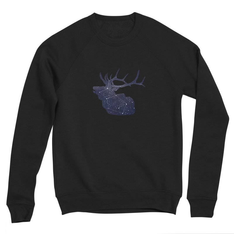 Elkstellation Men's Sponge Fleece Sweatshirt by justintapp's Artist Shop