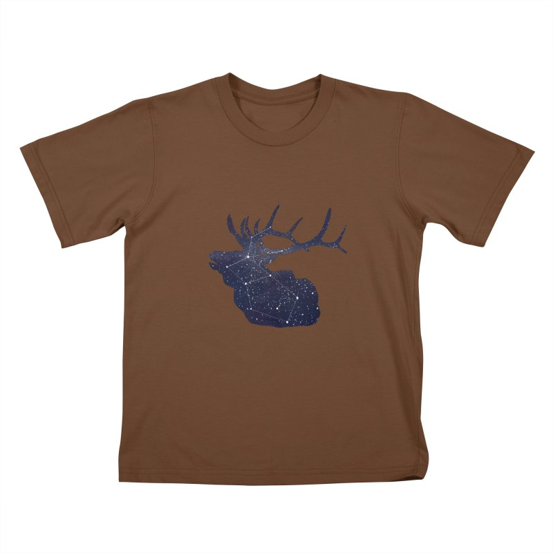 Elkstellation Kids T-Shirt by Justin Tapp's Artist Shop