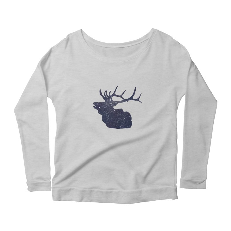 Elkstellation Women's Scoop Neck Longsleeve T-Shirt by Justin Tapp's Artist Shop