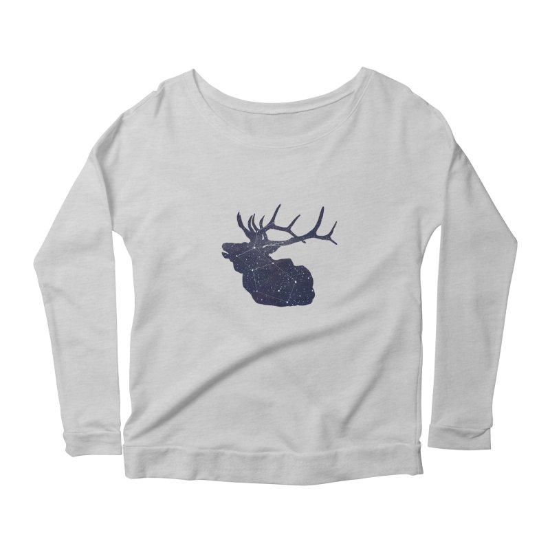 Elkstellation Women's Scoop Neck Longsleeve T-Shirt by justintapp's Artist Shop