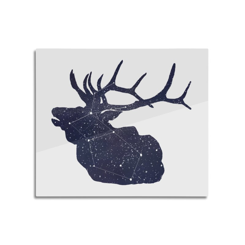 Elkstellation Home Mounted Aluminum Print by Justin Tapp's Artist Shop