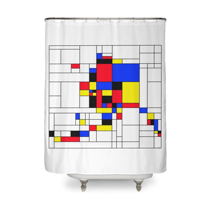 Alaska, Mondrian Style Home Shower Curtain by Justin Tapp's Artist Shop