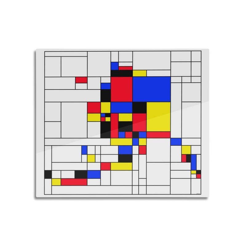 Alaska, Mondrian Style Home Mounted Aluminum Print by justintapp's Artist Shop