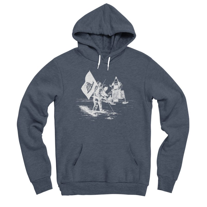 We Got Here First Men's Sponge Fleece Pullover Hoody by Justin Tapp's Artist Shop