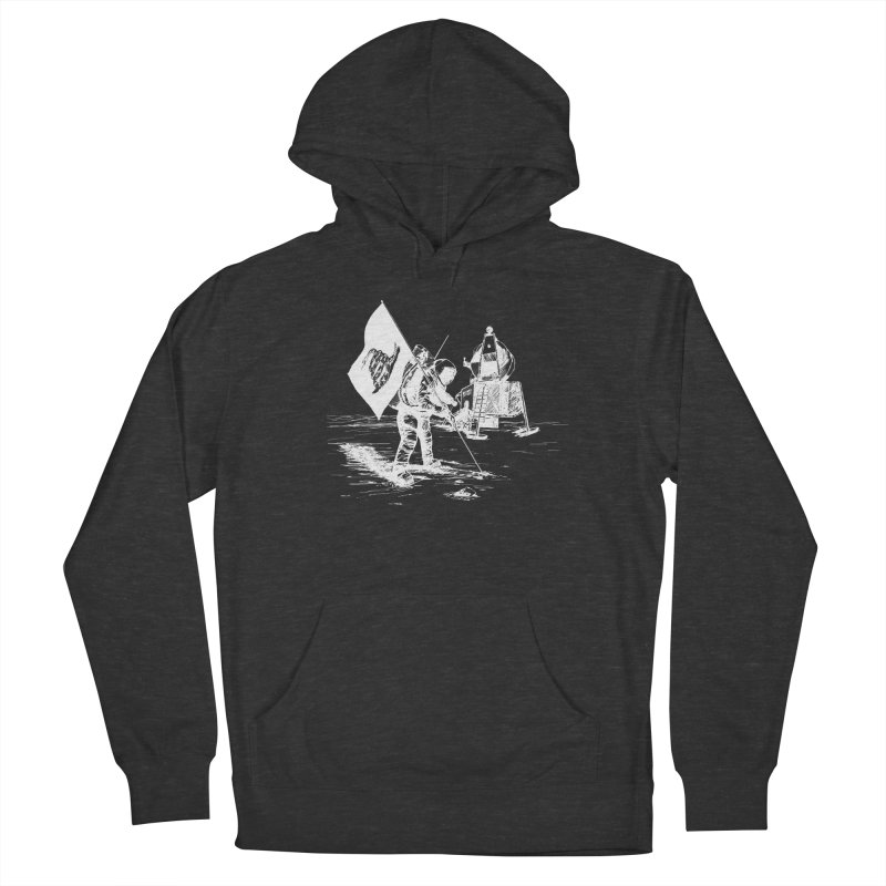 We Got Here First Men's French Terry Pullover Hoody by Justin Tapp's Artist Shop