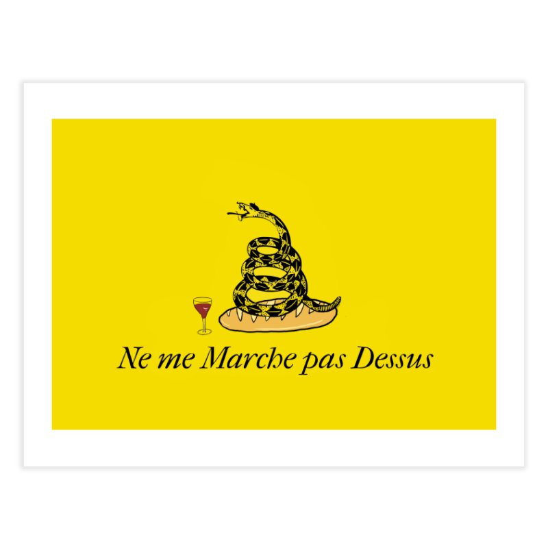 Don't Tread On Moi Home Fine Art Print by Justin Tapp's Artist Shop