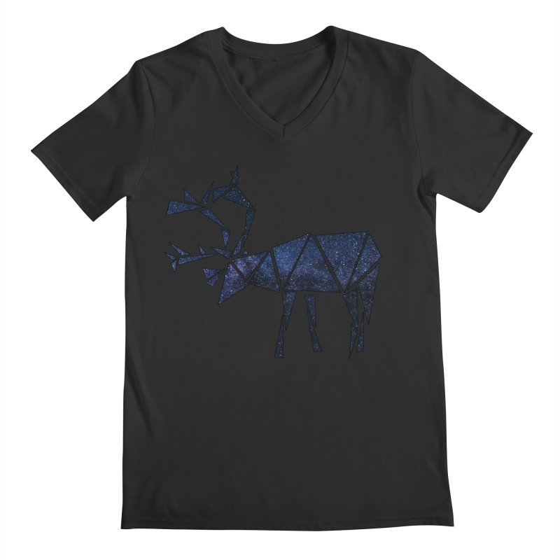 Arctic Nights Men's V-Neck by Justin Tapp's Artist Shop