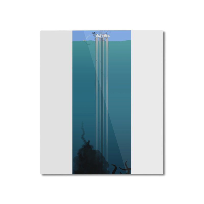 Deepwater Horizon Home Mounted Aluminum Print by Justin Tapp's Artist Shop