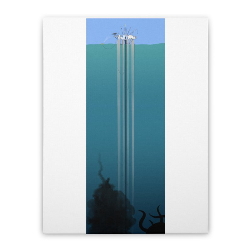Deepwater Horizon Home Stretched Canvas by justintapp's Artist Shop