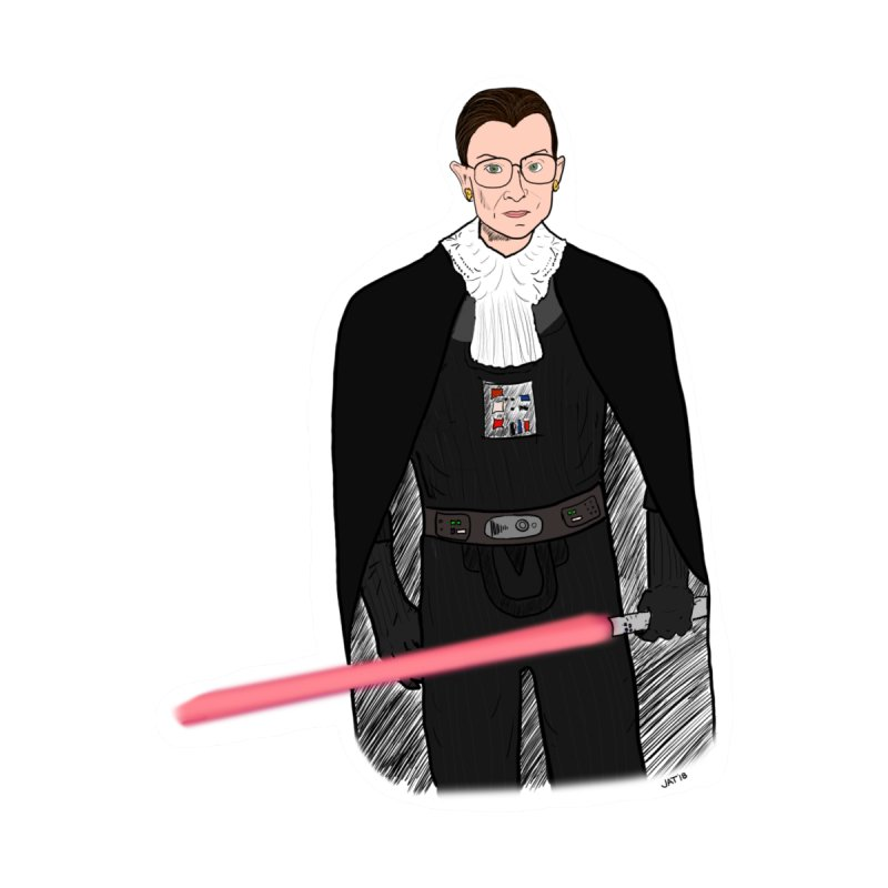 Ruth Vader Ginsburg Women's Scoop Neck by Justin Tapp's Artist Shop