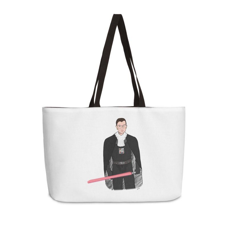 Ruth Vader Ginsburg Accessories Weekender Bag Bag by Justin Tapp's Artist Shop
