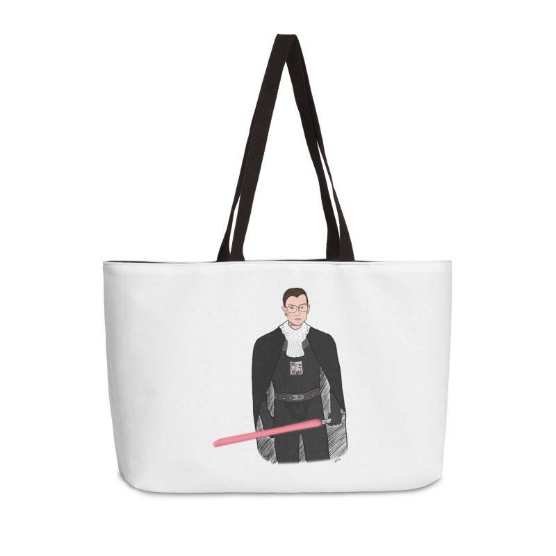 Ruth Vader Ginsburg Accessories Weekender Bag Bag by Justin Tapp's Artist Shop