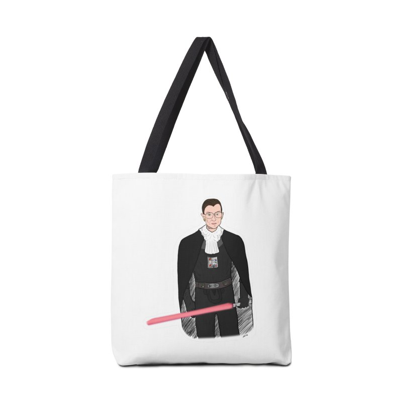 Ruth Vader Ginsburg Accessories Tote Bag Bag by Justin Tapp's Artist Shop