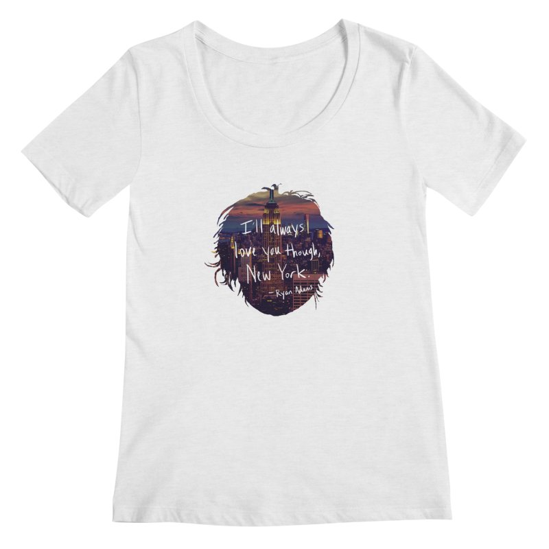 Love, New York Women's Scoop Neck by Justin Tapp's Artist Shop