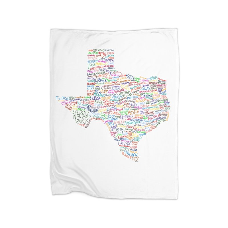 Deep In The Heart Home Fleece Blanket Blanket by Justin Tapp's Artist Shop
