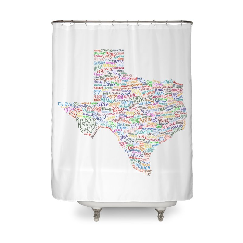Deep In The Heart Home Shower Curtain by Justin Tapp's Artist Shop
