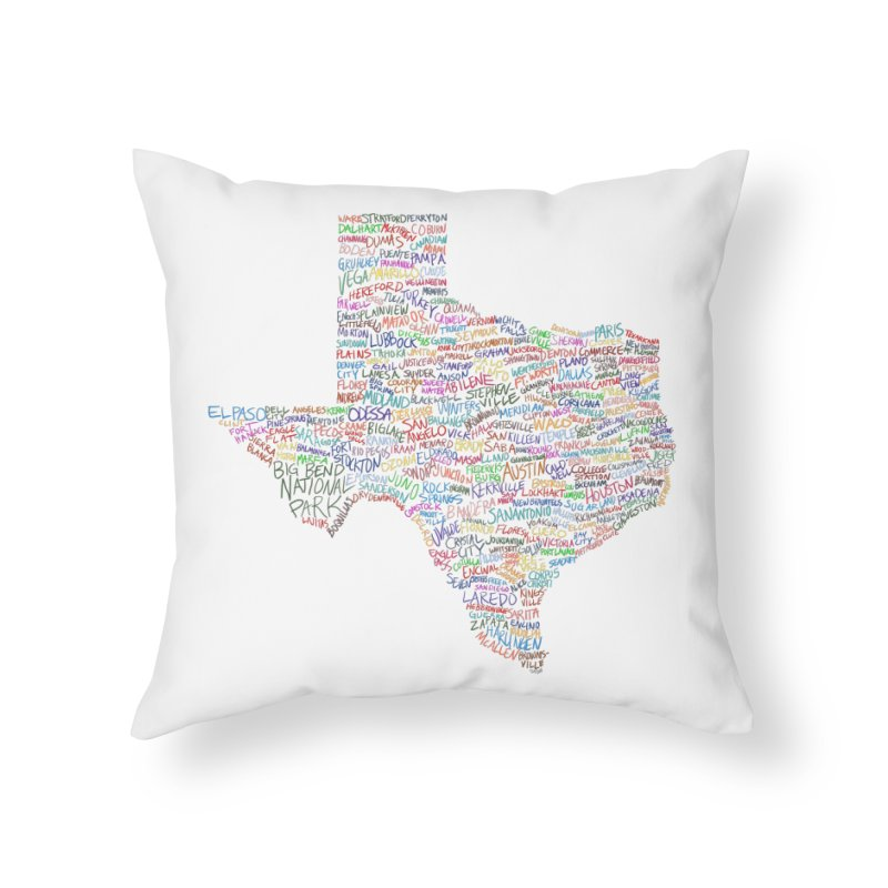 Deep In The Heart Home Throw Pillow by Justin Tapp's Artist Shop