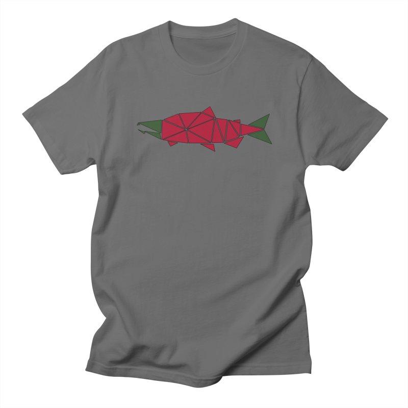 Alaskan Angler Men's T-Shirt by Justin Tapp's Artist Shop
