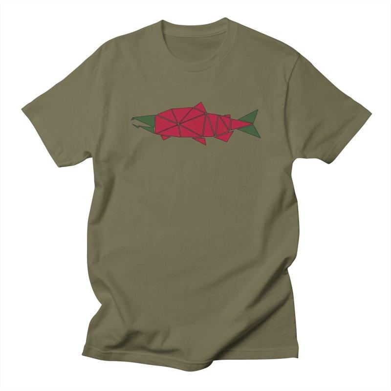 Alaskan Angler Men's Regular T-Shirt by Justin Tapp's Artist Shop