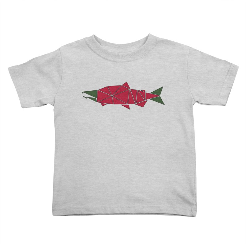 Alaskan Angler Kids Toddler T-Shirt by Justin Tapp's Artist Shop