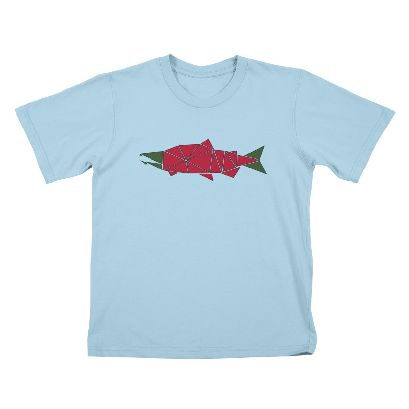 Alaskan Angler Kids T-Shirt by Justin Tapp's Artist Shop