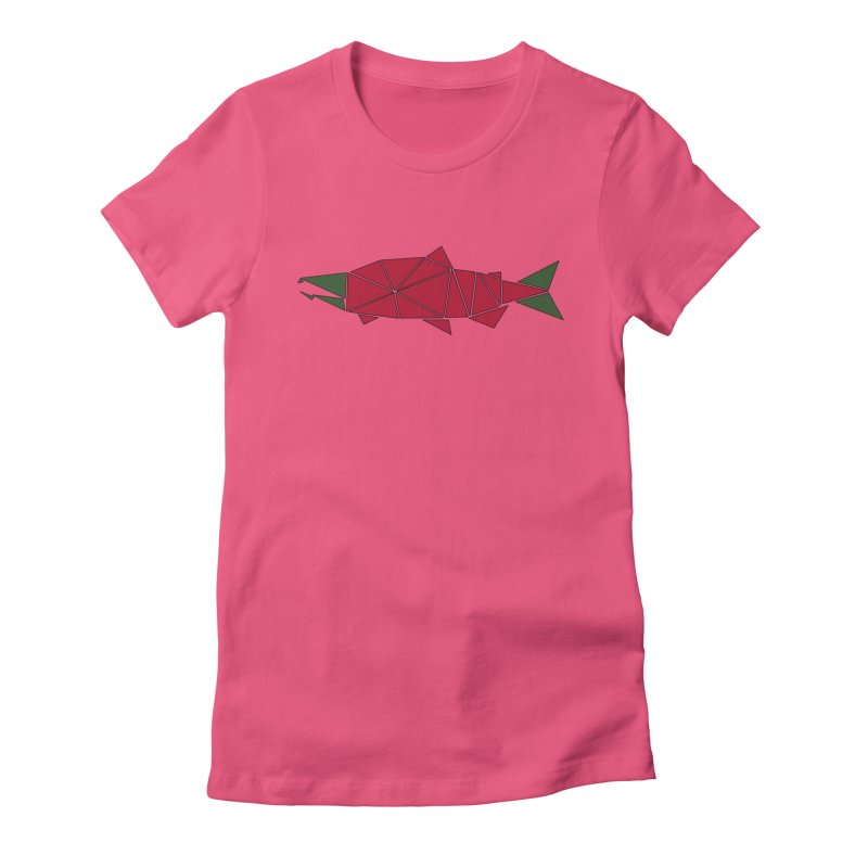 Alaskan Angler Women's Fitted T-Shirt by Justin Tapp's Artist Shop