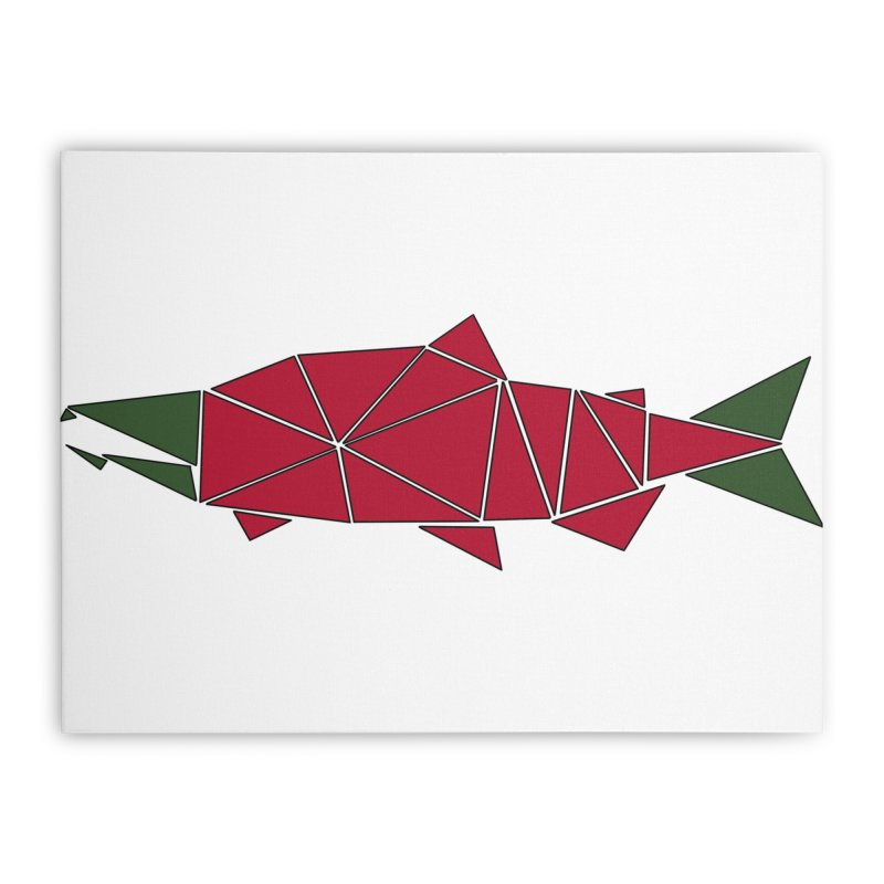 Alaskan Angler Home Stretched Canvas by justintapp's Artist Shop