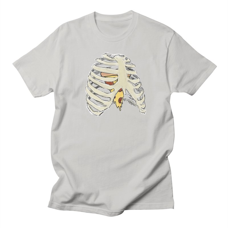 Pizza My Heart Men's Regular T-Shirt by Justin Tapp's Artist Shop