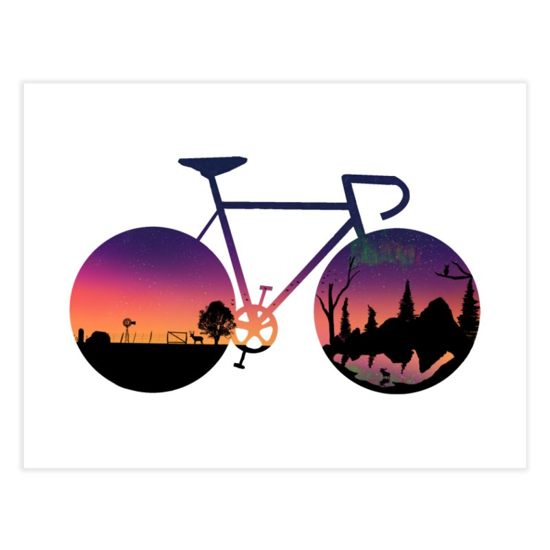 Pedaling North Home Fine Art Print by Justin Tapp's Artist Shop