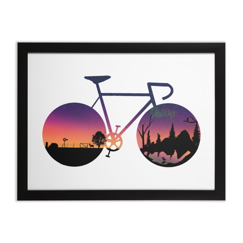 Pedaling North Home Framed Fine Art Print by Justin Tapp's Artist Shop