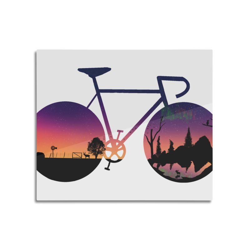 Pedaling North Home Mounted Aluminum Print by Justin Tapp's Artist Shop