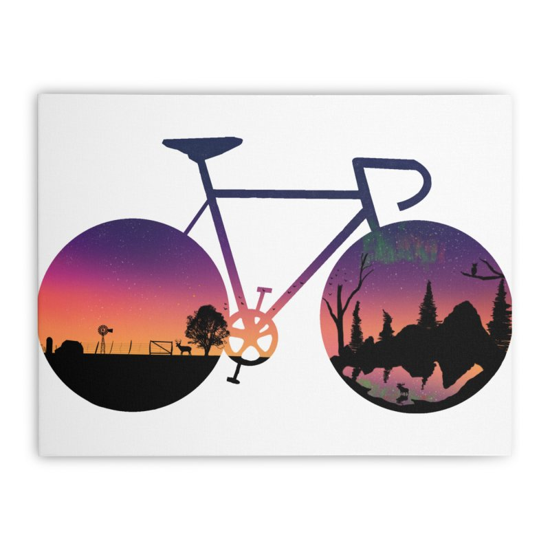 Pedaling North Home Stretched Canvas by justintapp's Artist Shop