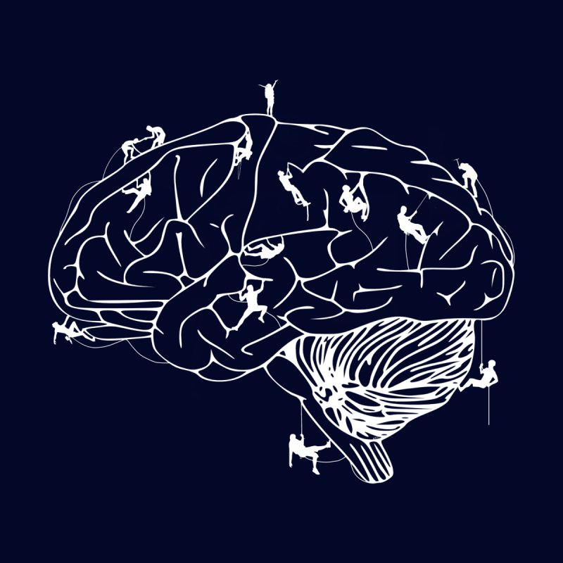 Climbing On The Brain Men's T-Shirt by Justin Tapp's Artist Shop