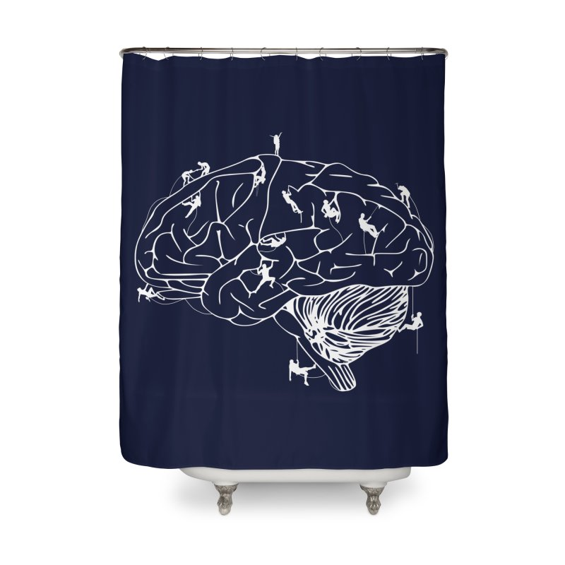 Climbing On The Brain Home Shower Curtain by Justin Tapp's Artist Shop