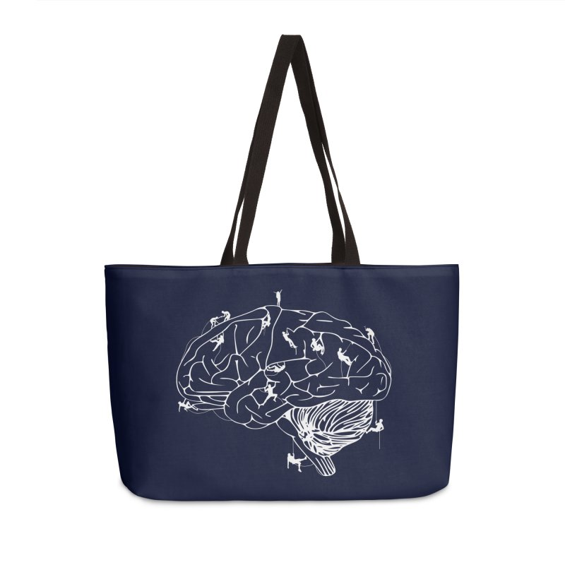 Climbing On The Brain Accessories Weekender Bag Bag by Justin Tapp's Artist Shop
