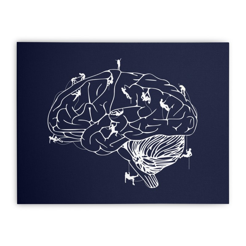 Climbing On The Brain Home Stretched Canvas by justintapp's Artist Shop