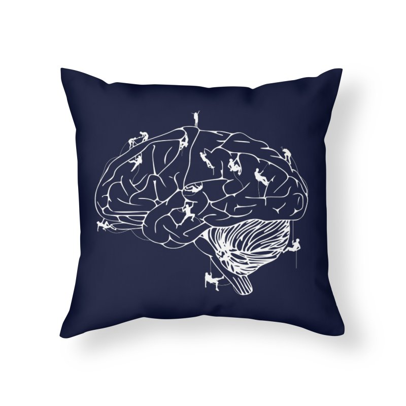 Climbing On The Brain Home Throw Pillow by Justin Tapp's Artist Shop