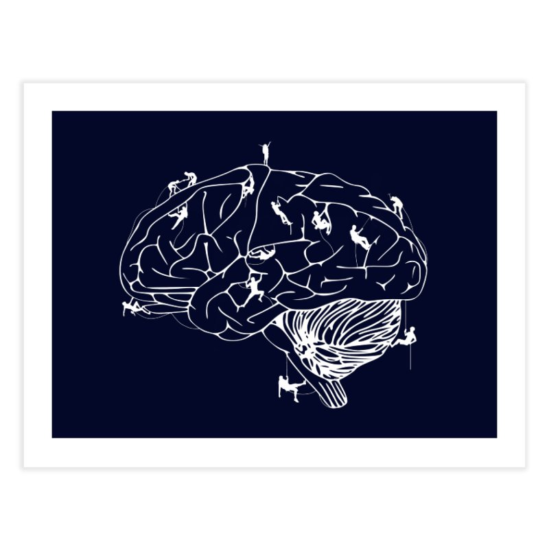 Climbing On The Brain Home Fine Art Print by Justin Tapp's Artist Shop