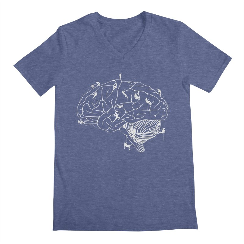 Climbing On The Brain Men's V-Neck by Justin Tapp's Artist Shop
