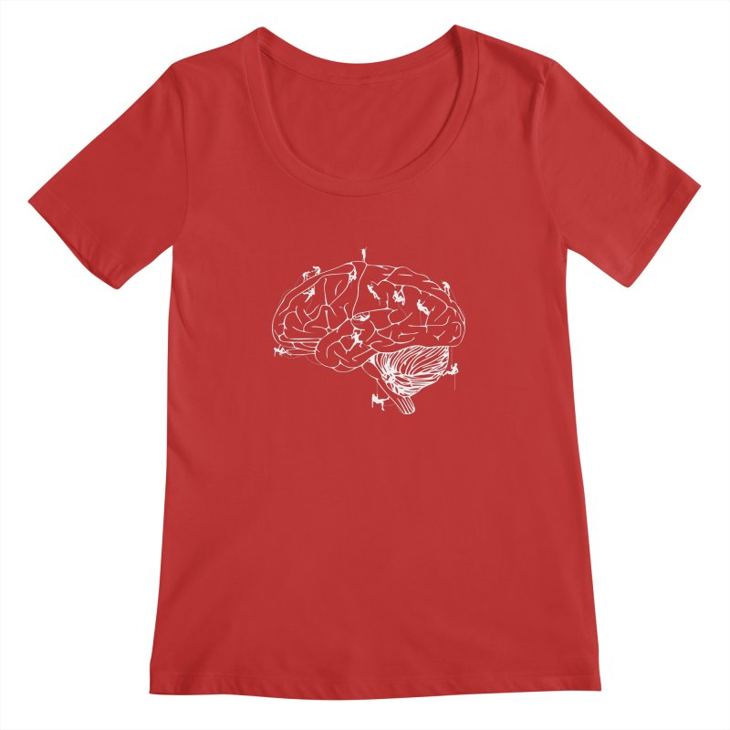 Climbing On The Brain Women's Scoop Neck by Justin Tapp's Artist Shop